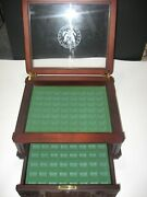 Rare American National Park Quarter Wooden Display Box For Collection Box Only