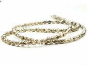 24.00 Ct Natural Brown Color Diamond Beads Brown Color Beads Necklace Wt Clap