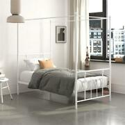 Dhp Manila Metal Canopy Bed In Twin Size Frame In White