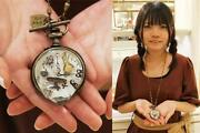 Q-pot. Melty Pocket Watch Necklace Disney Alice In Wonderland From Japan F/s