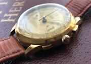 Zodiac Chronograph 18k Gold Hand-winding Valjoux 39mm Menand039s Watch From Japan F/s