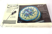 Vintage Lee Wards Pansy Pretty Crewel Embroidery Pillow New In Box Sealed
