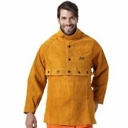 Welding Apron Leather Working Cape Sleeves Bib Flame Heat Abrasion Resistant New