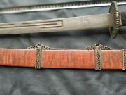 Collectable Chinese Qing Dao Sword Folded Steel Old Blade Sharp