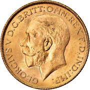 [873702] Coin, India-british, George V, Sovereign, 1918, Bombay, Ms, Gold