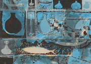 Eve Nethercott Fish And Vessels P2.74 Acrylic On Paper
