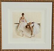Douglas Hofmann Rehearsal Suite Ii Hand-colored Lithograph Signed In Pencil