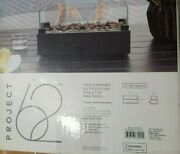 Two Harbors 14 Patio Tabletop Outdoor Gas Fireplace Fire Bowl Black Project 62