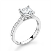 Diamond Solitaire Engagement Ring Shoulder Set 0.40cts G-si1 Gia Certificate