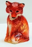 Hubley Red Fox Cast Iron Paperweight Toy Antique Lancaster Pa Usa Rare