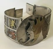 Einzigartig Vintage Mexico Sterling Kupfer And Messing Zodiac Astrologie Signs