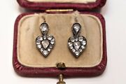 Antique Ottoman Style Natural Diamond New Made Hard Style 8k Gold Earring