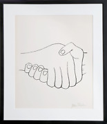 Ben Shahn Unexpected Meetings From The Rilke Portfolio Lithograph On Richard D