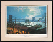 William Gordon Muller, View From South Street, New York 1892, Offset Lithograph,