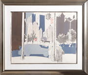 Fairfield Porter New York City Street Lithograph On Arches Signed And Numbere
