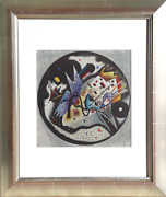 Wassily Kandinsky In The Black Circle From Derriere Le Miroir Lithograph Sign