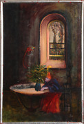 Peter Paone House Of The Dwarf Oil On Masonite Signed L.r.