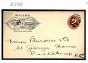 Gb Advert Cover Illustrated Qv ½d Postal Stationery Waterfall 1890s E338