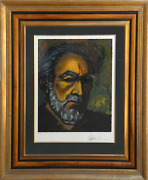 Anthony Quinn Self-portrait Lithograph Signed And Numbered In Pencil
