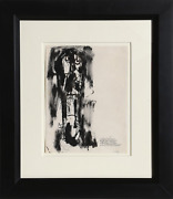 Abraham Rattner Long Face Ink And Wash On Paper Signed Dated And Dedicated I