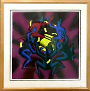 Mark Kostabi Cash Dance Screenprint Signed And Numbered In Pencil