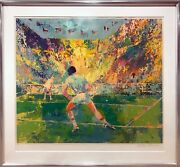 Leroy Neiman Stadium Tennis Screenprint Signed And Numbered In Pencil