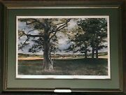 John Chumley Above The Fruited Plain Offset Lithograph Signed In Pencil