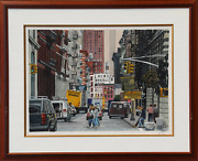 Unknown Artist, Soho, Mercer St, Watercolor On Paper, Signed