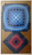 Victor Vasarely Mita Screenprint On Arches Signed And Numbered In Pencil
