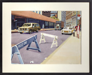 Don David Police Line Watercolor On Paper Signed