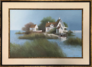 Albert Swayhoover Island Home Oil On Canvas Signed