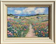 Diane Monet, Path To The Beach, Oil On Canvas, Signed
