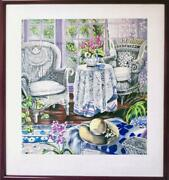 Susan Rios, Sunday Morning, Screenprint, Signed And Numbered In Pencil