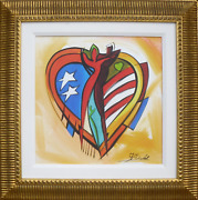 Alfred Gockel Love American Style Giclee On Canvas Signed L.r. And Numbered V