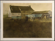 Andrew Wyeth, Marsh Hawk, Collotype Poster With The A.w. Sigil In The Mat