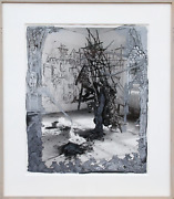 Kim Jones Untitled Black Figure Ink And Gouache Signed And Dated Verso