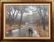 William Benson Turner Metis Beach - Quebec Canada Oil On Board Labeled Verso