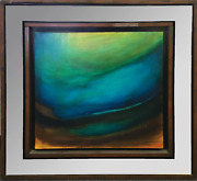 Robert Bloeser Sea Mirror Abstract Oil On Canvas Signed L.r.