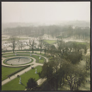 Unknown Artist Parisian Park Digital Print On Matte Paper Mounted To Board