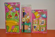 The Simpsons - 1990 Nelsonic Watch And Jaru Target Game / Sliding Puzzles=unopened