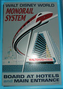 Wdw New Poster Contemporary Monorail System Metal Tin Park Sign Disney World