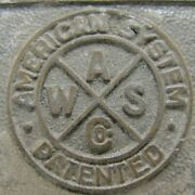 Aws Co American Water Softener Philadelphia Pa Usa Embossed Brass Plaque Sign