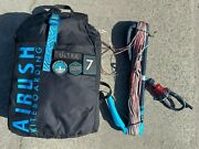 2020 Airush Ultra 7m Mint/navy Complete - Excellent Condition - Kiteboarding