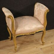 Bench Furniture Chair French Seat In Gold Wood Antique Style Living Room 900