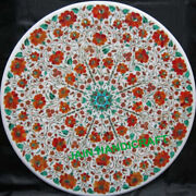 3and039 White Marble Table Top Coffee Center Inlay Mosaic Pietra Dura Home Decor K4