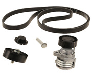 Serpentine Drive Belt + Tensioner With Bolt + Idler Pulley Kit For Select Bmw