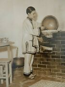 Art Deco Press Photo 20 X 15 Cm Chinese Kitchen Olympia Ideal Homes Exhib