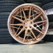 21 Avant Garde Ag F538 5x115 Staggered 3-piece Forged Wheels Rose Gold