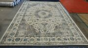 Grey / Gold 9' X 12' Stained Rug Reduced Price 1172604897 Evk220b-9