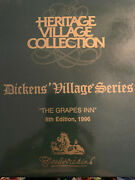 Dept 56 Set Charles Dickens Heritage Village Series The Grapes Inn And Ornament